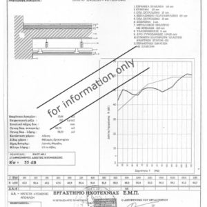 Certificate – Sound insulation for Floating Floor – Falseceiling