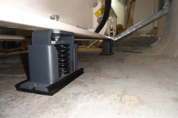 Anti-vibration with spring isolator