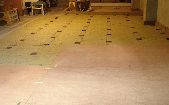 Floating floor application