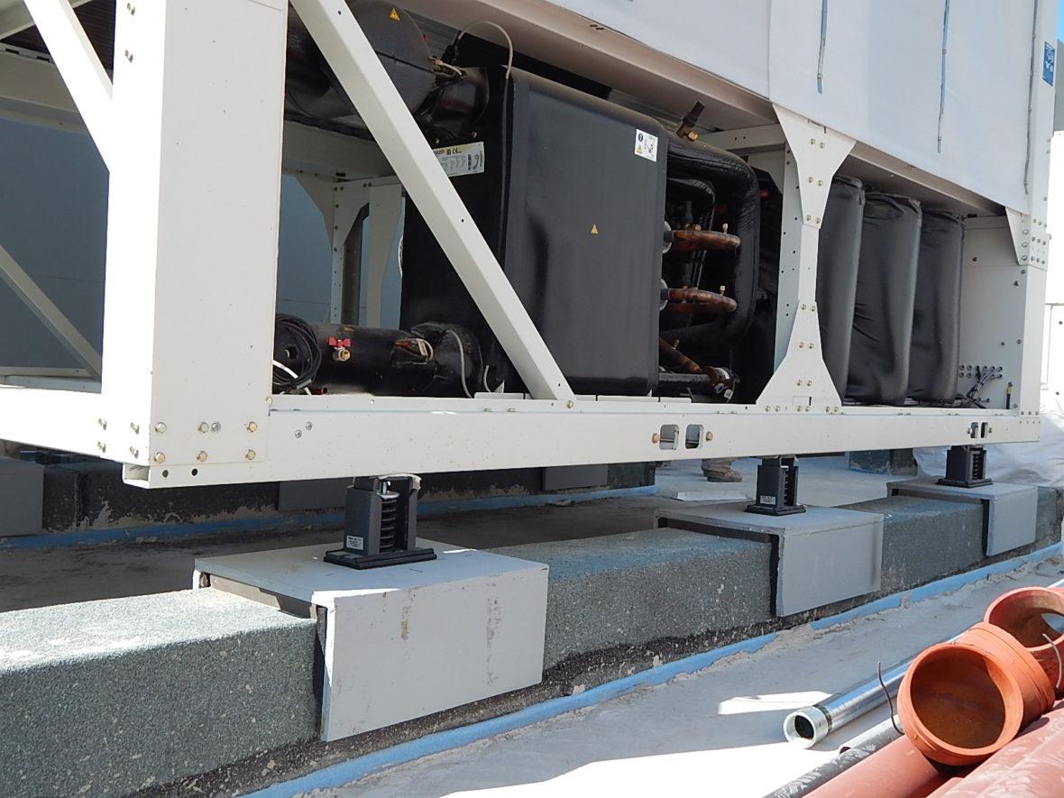 Vibration isolators in hospital HVAC project