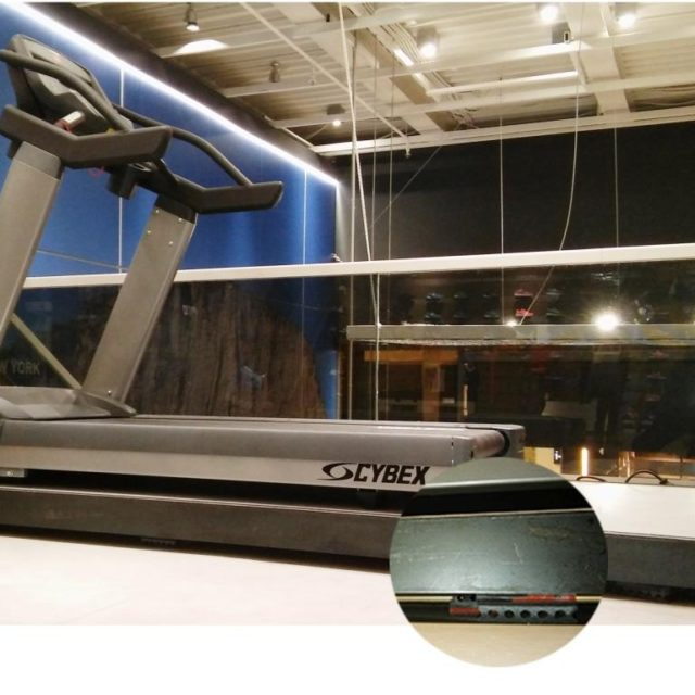 Treadmill vibration control