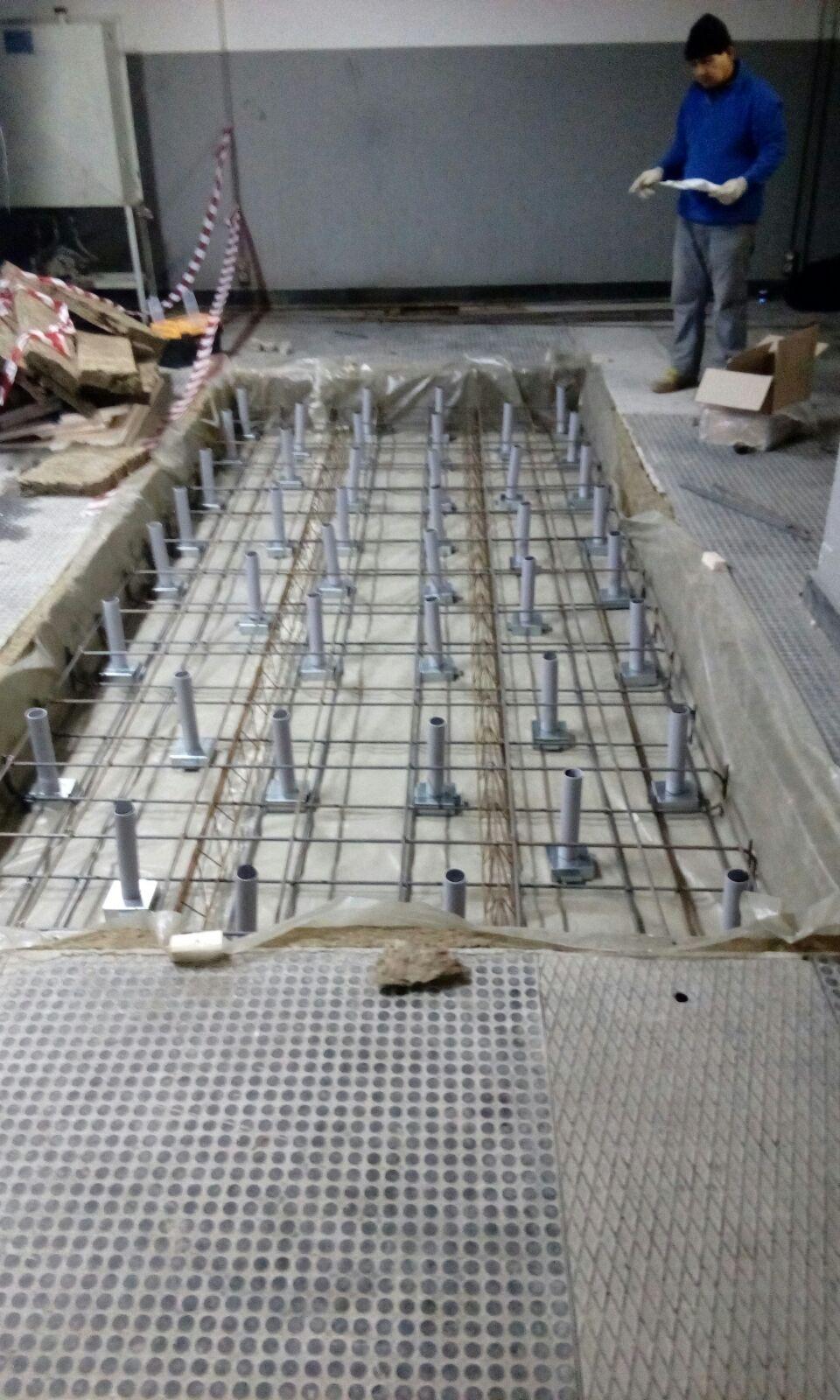 Vibro Ju Jack Up Rubber Mount For Concrete Floating Floors