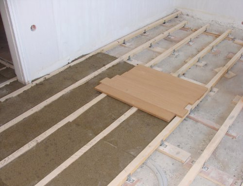vibration control for wooden floor