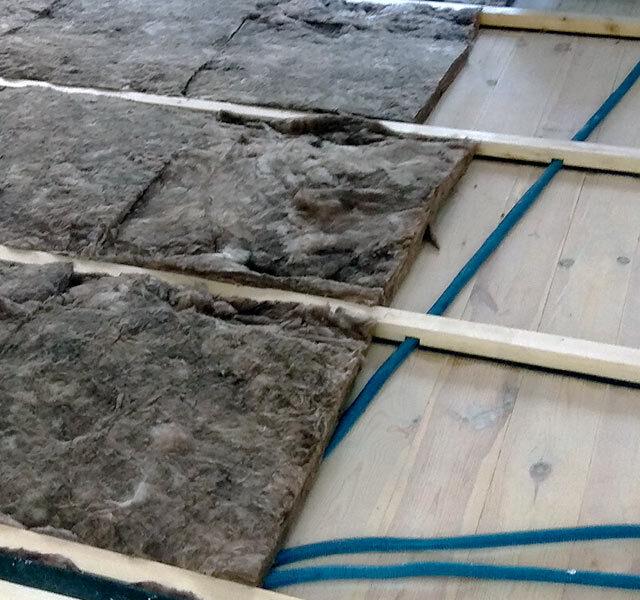 wooden floor insulation filling